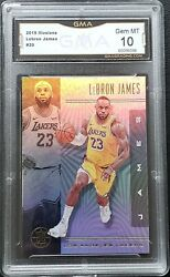 Lebron James 2019 20 Panini Illusions Base GRADED GMA 10 GEM Mint Lakers NOT PSA $23.99