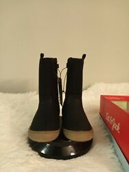 Cat amp;Jack orabel toddler boys 9m black zip up 7quot;tall light padded boots open box $15.00