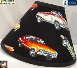 CLASSIC MUSCLE CARS LAMP SHADE Clip On $65.95 LAST ONE $65.95