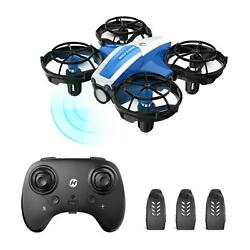 Holyton Mini Drone for Kids RC Quadcopter Hand Operated 3 Battery Altitude Hold $27.99