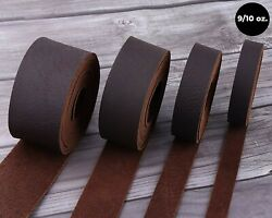 WD 47 Brown Tooling Leather Straps 1 2quot; to 4quot; Wide 68 72 Inches Long 9 10 oz... $17.84