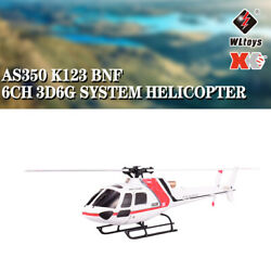 Wltoys XK AS350 K123 6CH 3D 6G Brushless Motor RC Helicopter BNF Aircraft Drone $110.27