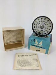 Martin 60 Single Action Vintage Fly Reel Used With Original Box $25.00
