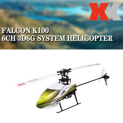 Wltoys XK K100 6CH 3D 6G System Single Paddle RC Helicopter BNF Aircraft Drone $65.88