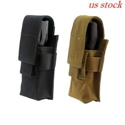 Tactical Molle Flashlight holster holder Single Magazine Pouch Torch Holder Case $9.26