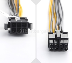 PCI E PCI Power Cable Express 6 Pin Female To 8 Pin Male For Video Card Adapter $1.99