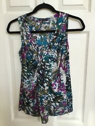 quot;COLORFULquot; Size Small AnneKlein Womenquot;s Sleeveless Blouse Top $9.99