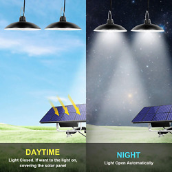 Solar Pendant Light Outdoor Garden with Remote Control 32 LED Solar Hanging Lamp $26.38