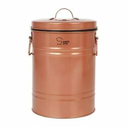 Colored Compost Bin Indoor Kitchen Compost Pail With Charcoal Filter Copper New $37.89