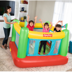 Inflatable Bounce House Kids Foldable Bouncy Castle Indoor Fun w Built in Pump $64.99