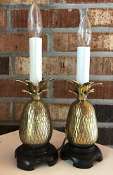 2 solid brass Candle Light pineapple 2 small lamps $39.00