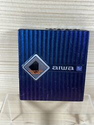 AIWA AM HX55 Used Portable MD Player Not compatible with MDLP Blue Parts Repairs $34.99