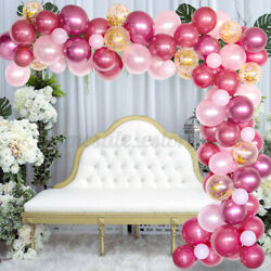 100pcs Balloon Garland Kit Arch For Wedding Birthday Party Girl Backgro $17.76