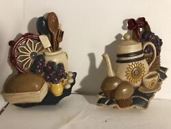 HOME INTERIORS amp; GIFTS KITCHEN THEME WALL DECOR MADE IN USA Tea set amp; Bread $15.50