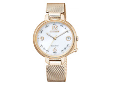 Citizen Eco Drive Bluetooth Women Pink Gold Quartz EE4035 81A Made in Japan $449.89
