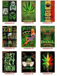 Caution Weed Pot Funny Metal Tin Wall Signs Home Art Retro Decor Club Posters $5.99