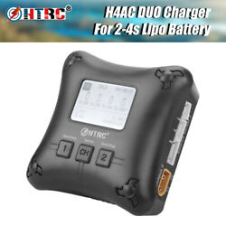HTRC H4AC DUO Mini RC Charger Dual Port 20w 2A For Battery Charging Charger $32.94