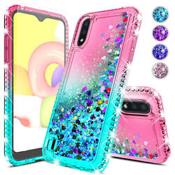 For Samsung Galaxy A12 A52 A32 A72 5G A02S Case Bling Cute Cover Glass Protector $7.95