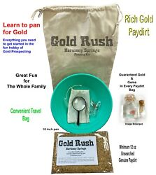 Gold Rush Gold Panning Kit with Paydirt Guaranteed Gold amp; Gems Learn to Pan $26.50