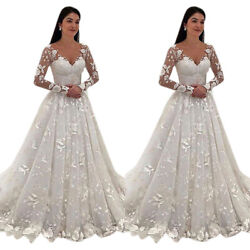 Womens Wedding Party Long Lace Maxi Dress Prom Ball Gown Dresses Formal Cocktail $44.45