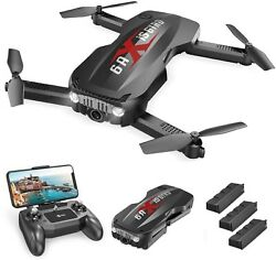 Holy Stone HS160 Pro Foldable Drone with 1080p Camera FPV Quadcopter 3 Batteries $69.99