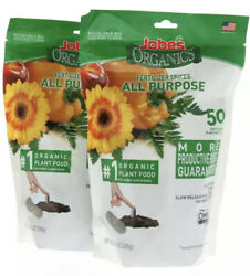 Jobe#x27;s Organics All Purpose Fertilizer Spikes 50 Count 2 Pack Free Shipping $18.95