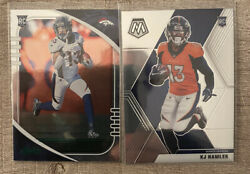 KJ Hamler Mosaic RC and Absolute Green Foil Rookie Card Lot DENVER BRONCOS $4.99