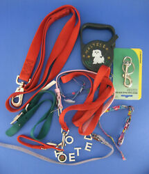 Lot of Dog Leashes Leads and Collars Assorted Sizes Colors Extras $15.99