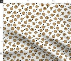 Cookies Food Novelty Kids Small Cookie Andrea Fabric Printed by Spoonflower BTY $30.50