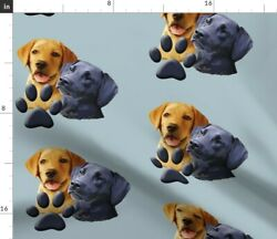 Animals Hunting Large Scale Black Lab Dog Hunters Spoonflower Fabric by the Yard $20.50