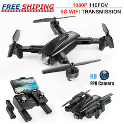 2021 NEW RC Drone HD Wide Angle Camera 5G WiFi FPV Drone Foldable Quadcopter GPS $98.99