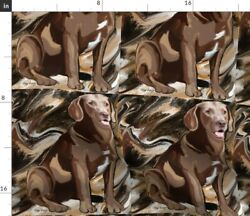 Animals Large Scale Dog Hunters Labrador Spoonflower Fabric by the Yard $25.00