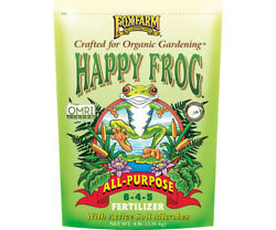 Fox Farm Happy Frog All Purpose Fertilizer 4 lbs Organic Plant Fertilizer $15.95