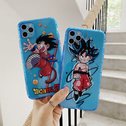 Cartoon Dragon Ball Fighting Goku Clear Case for iPhone 11 pro max xr 8P 7 cute $11.39