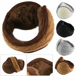 Womens Mens Ear Muffs Fleece Earwarmer Winter Ear warmers Behind the Head Design $10.49
