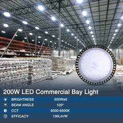 LED High Bay Light 200W Fixture Factory Warehouse Commercial Lighting SMD 2835