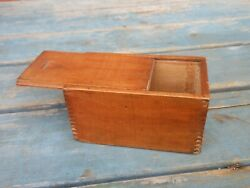 Small Antique Finger Joint Slide Box Dated 1890 $48.00