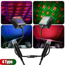 USB Car Interior LED Light Roof Room Atmosphere Starry Sky Lamp Star Projector $15.99