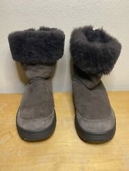 UGG Ultimate Bind Suede Lined Boots Brown Women's Size 9 F8008G $28.00