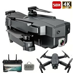 Best Drone 4K with HD Camera WIFI 1080P Camera Follow Me Quadcopter FPV Smart $73.96