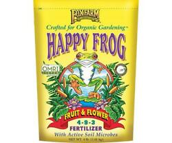 Fox Farm Happy Frog Fruit amp; Flower Fertilizer 4 lb bag Free Shipping $18.00
