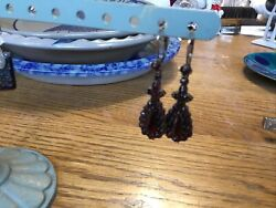 Antique Reproduction Silver Garnet Earrings From Germany $145.00