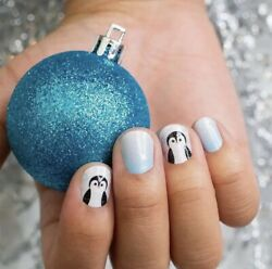 Color Street Nail Polish Strips Color Penguin Party 16 Holiday Christmas Strips $14.99