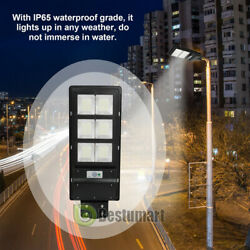 Commercial Solar LED Street Light 100000LM 90W IP67 Dust to Dawn IP67 Road Lamp