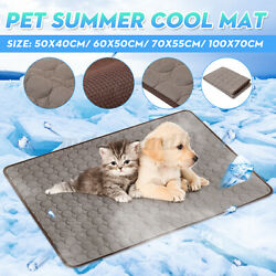 Summer Dog Cooling Mat Pet Ice Pad Teddy Mattress Cat Cushion Cool Bed Brown $9.75