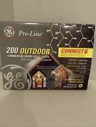 GE 200 Pro line Commercial Grade CLEAR Icicle Style Lights BNIB
