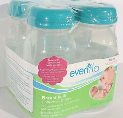 New Package of 4 Evenflo Breast Milk Collection Bottles 5 Ounces BPA FREE w $10.29