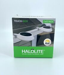 HALOLITE Touch Of ECO Solar Powered Round White Outdoor Lights