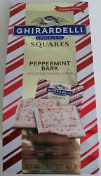 NEW GHIRARDELLI CHOCOLATE PEPPERMINT BARK SQUARES FREE WORLDWIDE SHIPPING $12.99