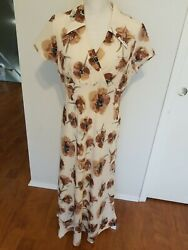 Vintage 90#x27;s grunge floral maxi dress size 11 USA $16.00